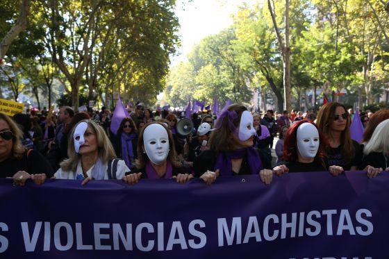 Manifestación en Madrid el pasado 7 de noviembre contra la violencia de género.