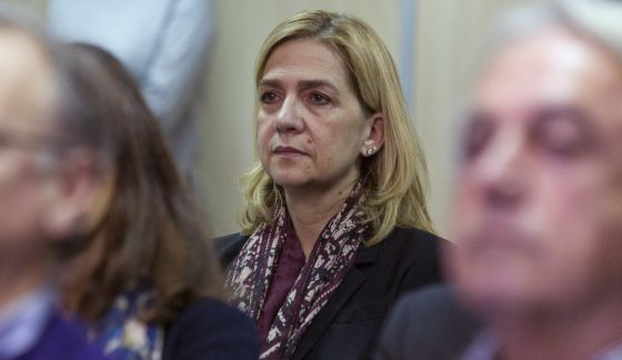 La infanta Cristina durante el juicio del 'caso Nóos'