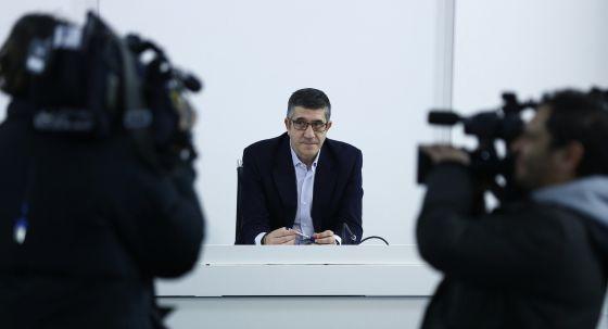 Patxi López en la reunión de la Ejecutiva del PSOE este lunes.