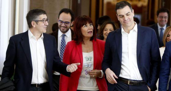 López, Hernando, Navarro y Sánchez, este martes.