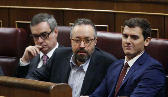 Albert Rivera, Juan Carlos Girauta y José Manuel Villegas.
