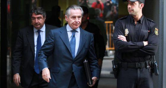 Miguel Blesa, tras declarar en la Audiencia el 16 de octubre.