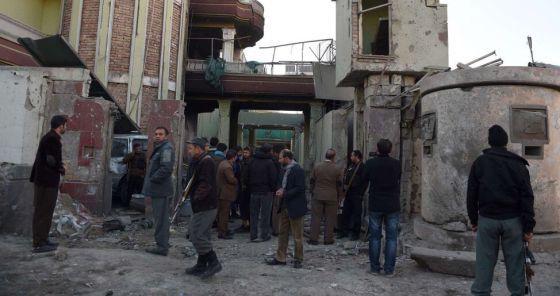 Estado en el que quedó la Embajada de España en Kabul.
