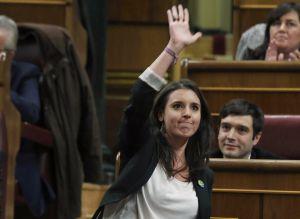 Irene Montero (Madrid, 1988). Psicóloga y secretaria de Coordinación de Podemos