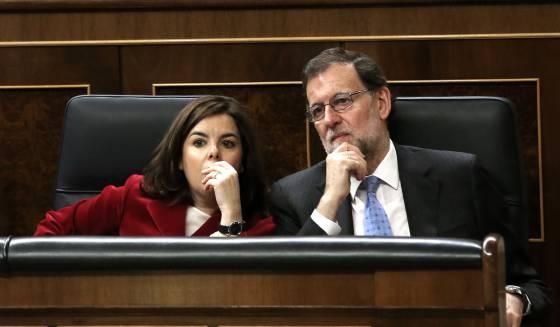 Rajoy y Santamaría en el Congreso