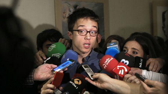 Íñigo Errejón, el 14 de enero en el Congreso de los Diputados.
