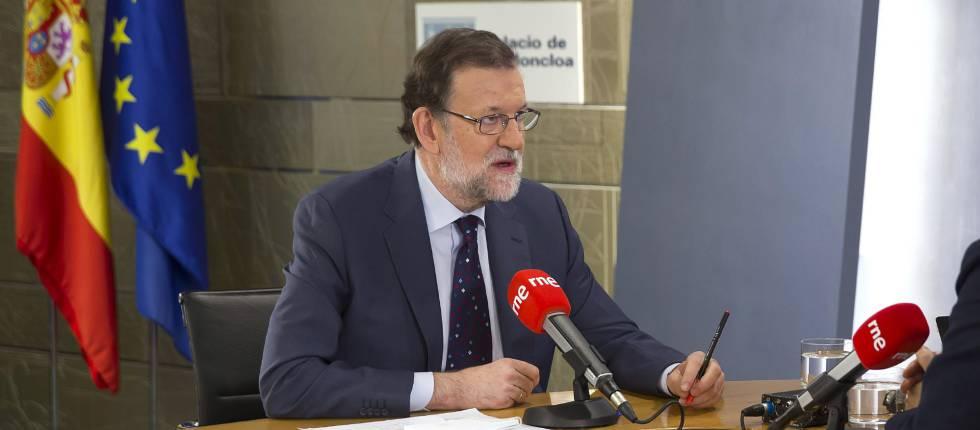 Mariano Rajoy durante la entrevista en Radio Nacional