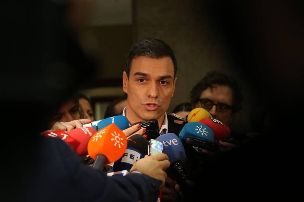 Pedro Sánchez en el Congreso el pasado 14 de enero.
