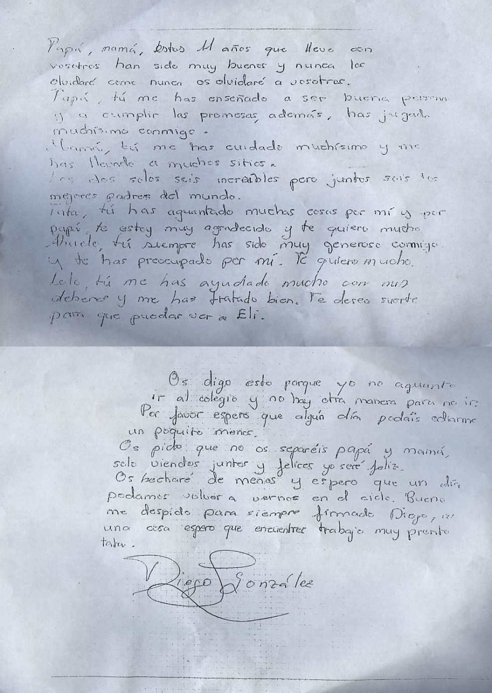 Carta de Diego