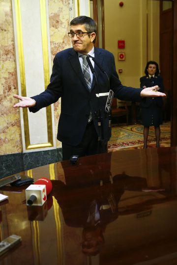 El presidente del Congreso, Patxi López, ayer en la Cámara baja.