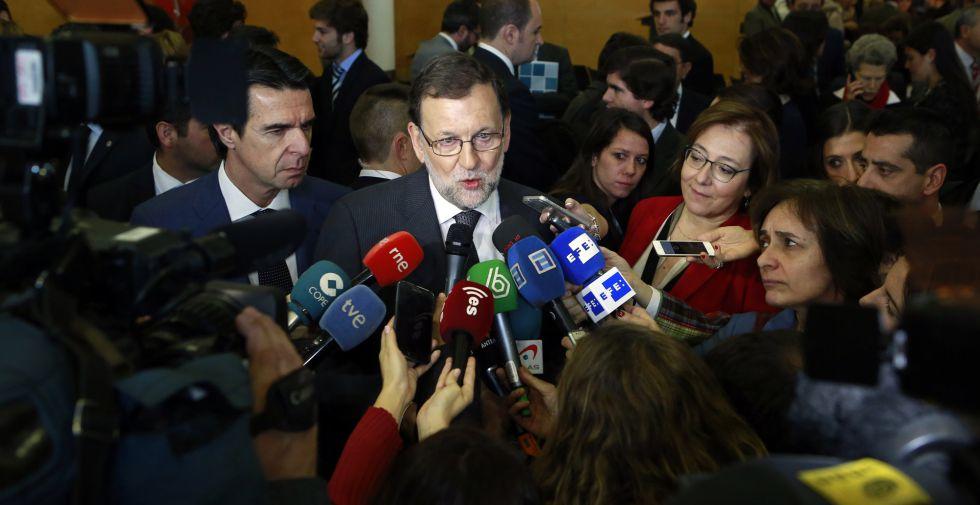 Rajoy, en la inauguración del octavo foro Exeltur, en Madrid.
