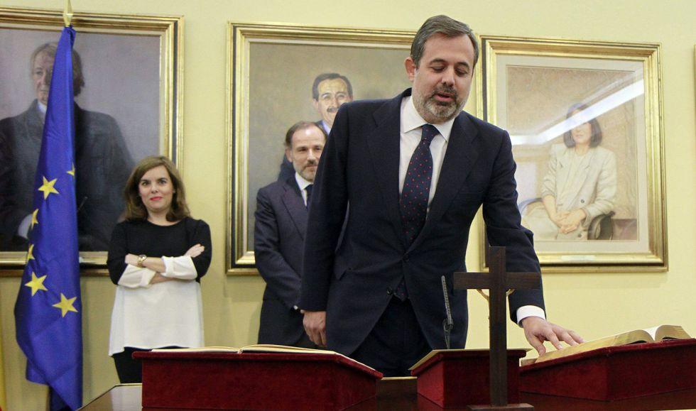 Federico Ramos jura, el 24 de junio de 2015, el cargo de subsecretario de Presidencia