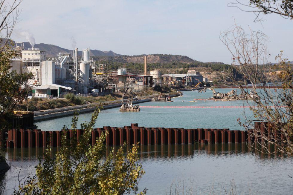 El embalse de Flix, en la provincia de Tarragona.