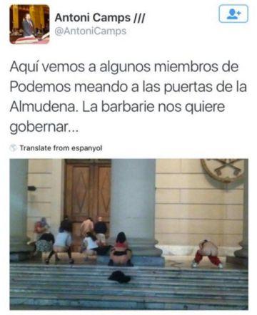 Un diputado del PP critica a Podemos con una foto de radicales argentinos