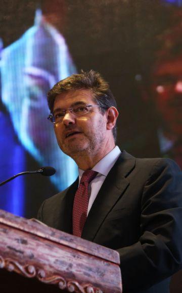 Rafael Catalá este lunes en Antigua (Guatemala).