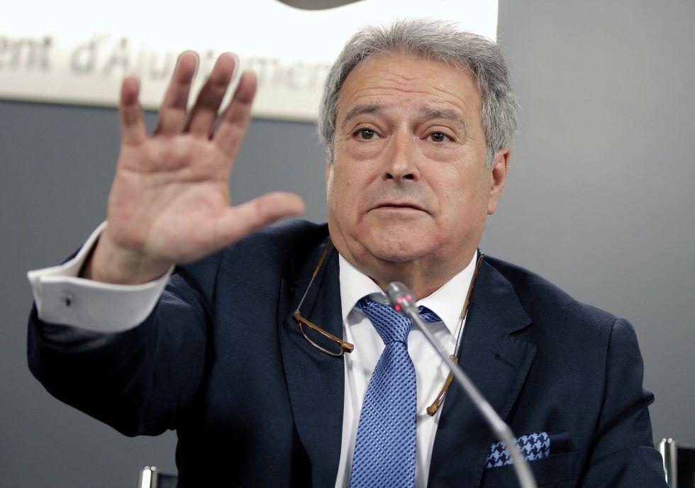 El expresidente de la Diputación de Valencia, Alfonso Rus, que ha sido detenido hoy dentro de una operación de la Guardia Civil.