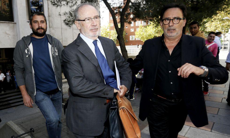 Rodrigo Rato a su salida de los Juzgados en Plaza de Castilla