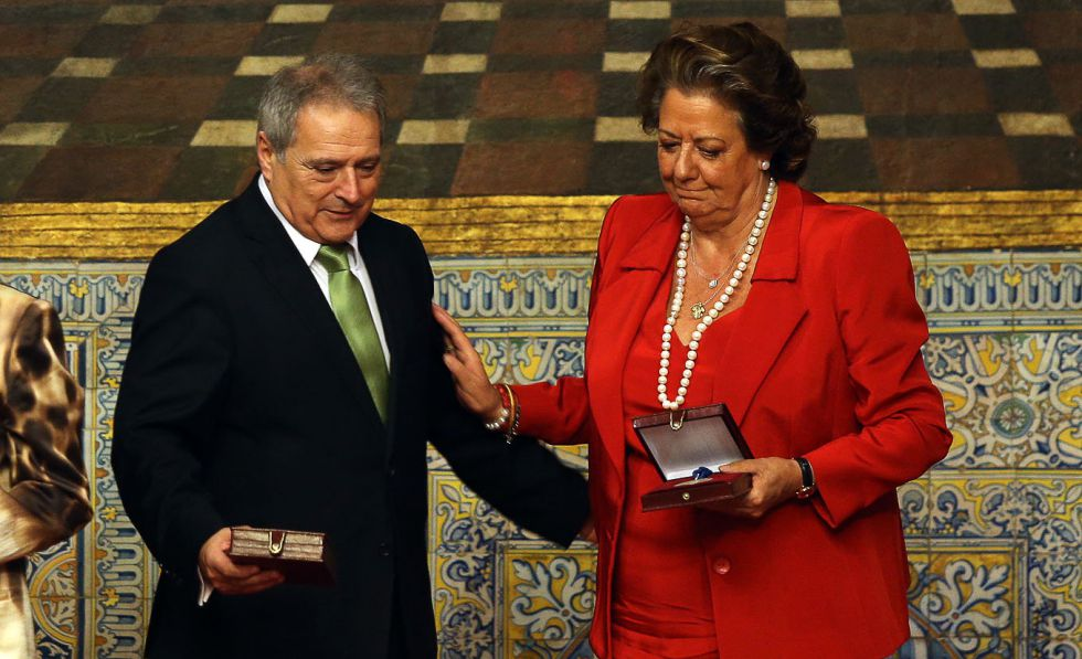 Rita Barberá junto a Rus en un acto institucional en 2013.
