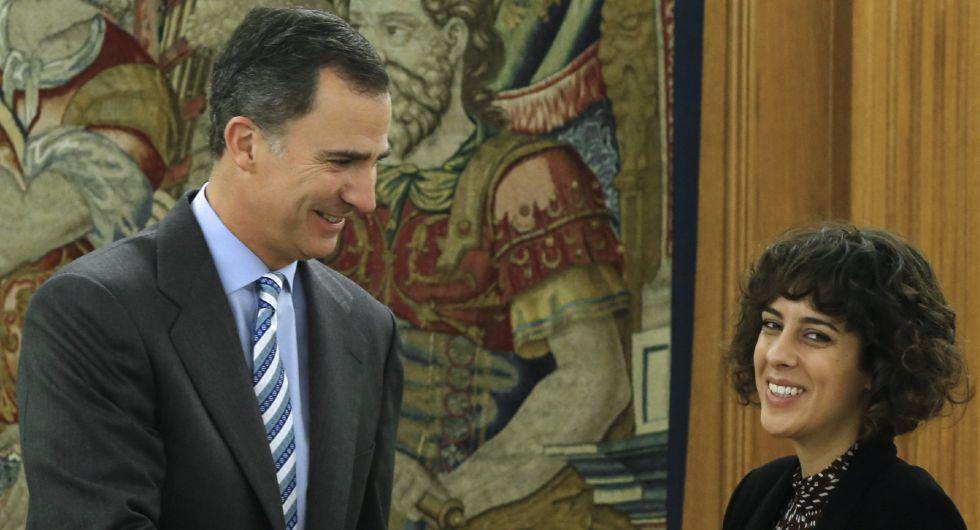 El Rey y Alexandra Fernández, de En Marea-Podemos
