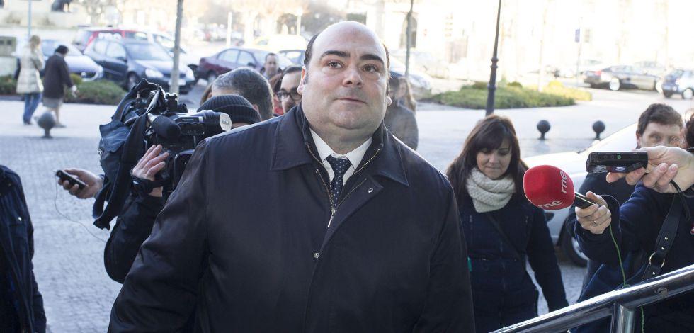 Agustín Iglesias Caunedo, exalcalde de Oviedo, este viernes en Lugo.