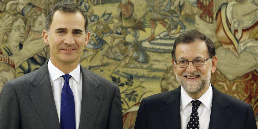 Felipe VI, el 22 de enero con Mariano Rajoy, al que volverá a recibir el martes.