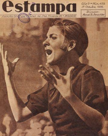 Portada de la revista 'Estampa',con la fotografía de Tellito.