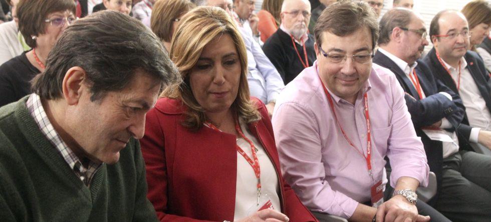 Fernández Vara durante el Comité Federal del PSOE