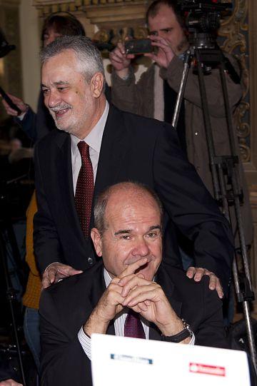 Griñán y Chaves, en 2013.