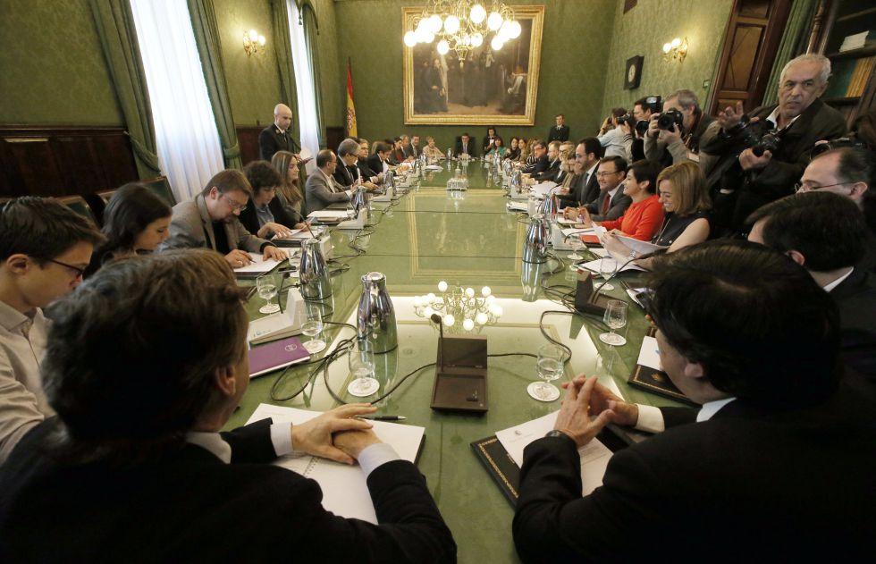 Primera reunion de la Junta de Portavoces del Congreso de los Diputados