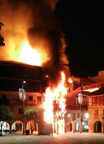 El edificio afectado.