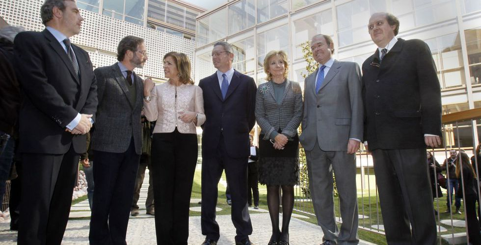 Botella, Gallardón y Aguirre, en el centro, en una imagen de archivo.