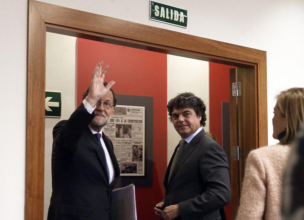 Rajoy, tras la rueda de prensa en la Moncloa este martes.