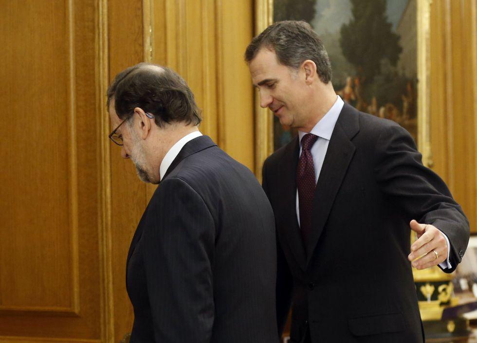 Felipe VI y Mariano Rajoy