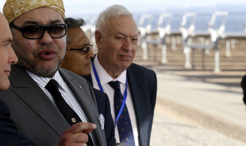 El rey de Marruecos Mohamed VI, y José Manuel García-Margallo
