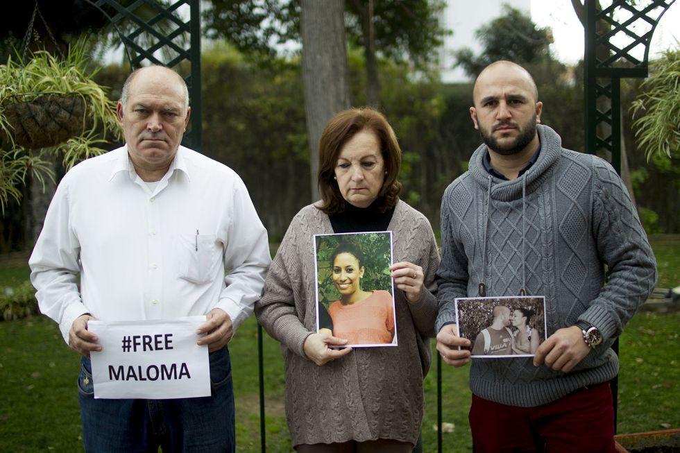 Los padres adoptivos de Maloma, José Morales y María del Carmen De Matos