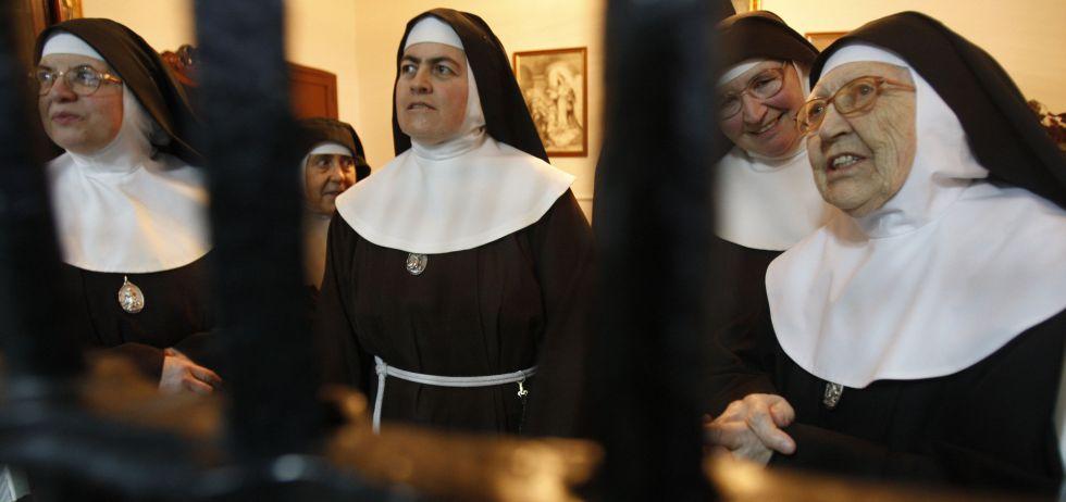 Monjas del monasterio de Nuestra Señora de la Cruz, en Cubas de la Sagra, en Madrid.