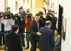 Pedro Sánchez recibe a los representantes del PNV Andoni Ortuzar y Aitor Esteban, este sábado en el Congreso.