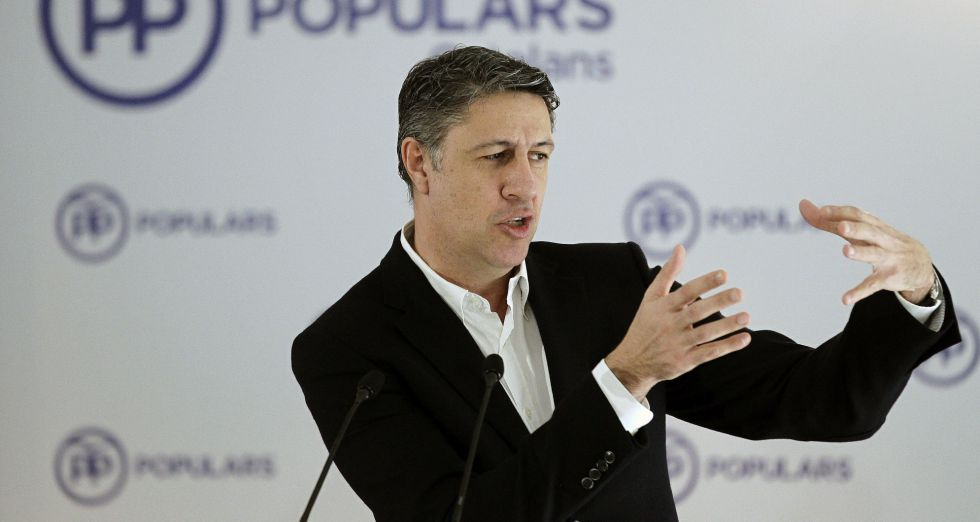 El coordinador y lider parlamentario del PPC, Xavier Gacía Albiol.