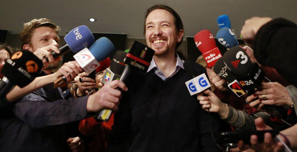 El líder de Podemos, Pablo Iglesias, este lunes.