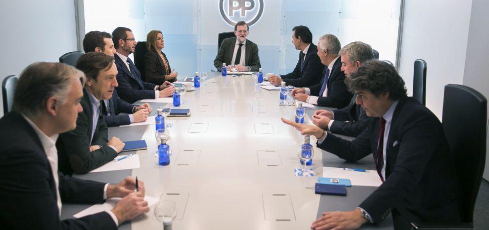 Mariano Rajoy durante la reunión del Comité de Dirección celebrada este lunes en Madrid.
