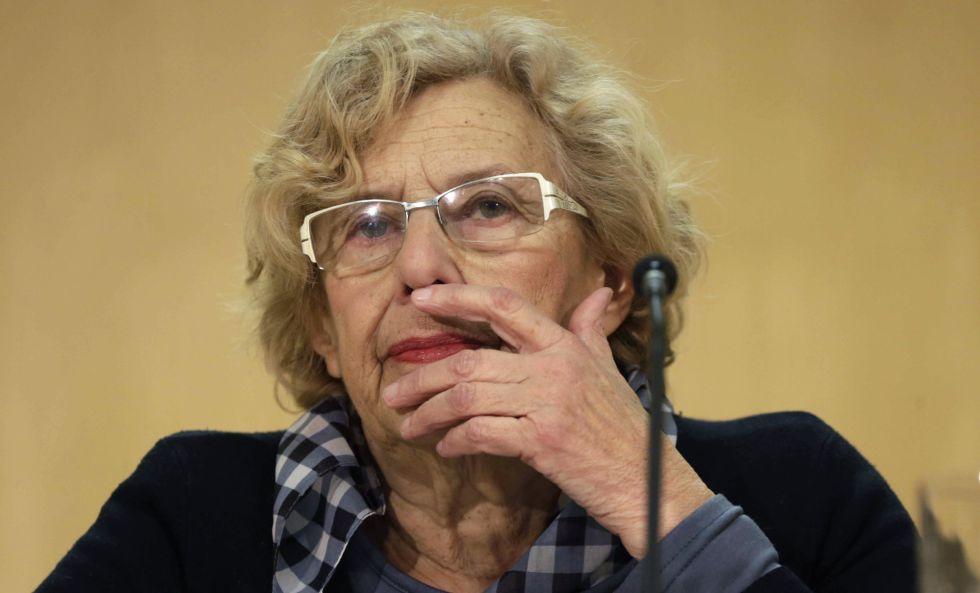 Manuela Carmena en su comparecencia por el caso de los títeres.