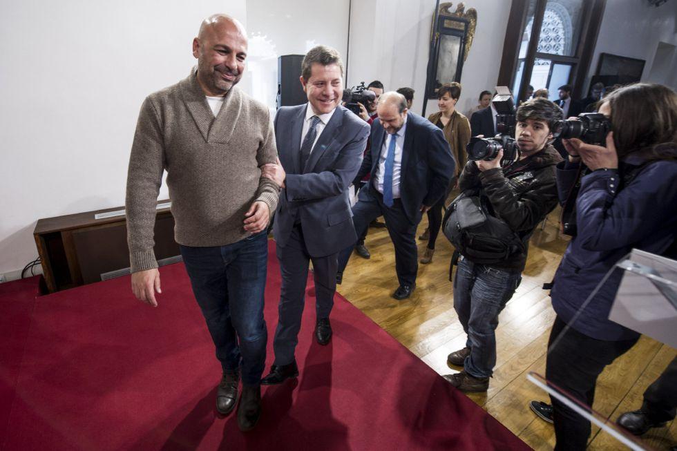 Emiliano García-Page y José García Molina de Podemos