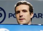El vicesecretario de Comunicación del PP, Pablo Casado, este lunes.
