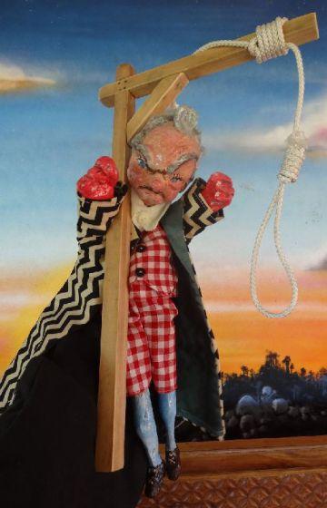 El ahorcado Jack Ketch, de los títeres británicos Punch y Judy.