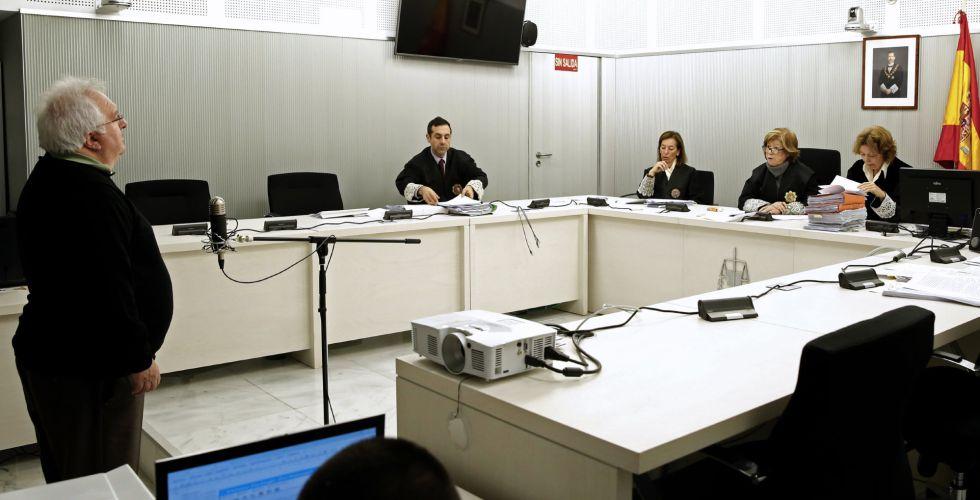 Jesús Ángel Bergantiño, este martes, durante la vista en la Audiencia Nacional sobre su extradición a Estados Unidos.