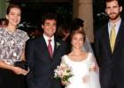 Ballester el día de su boda con Nuria Bover y el entonces Príncipe y su hermana Cristina.