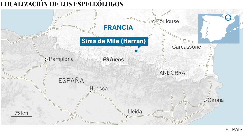 Rescatados los siete espeleólogos españoles atrapados en Francia