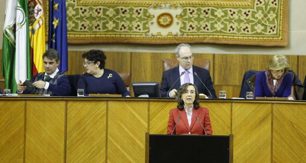 La consejera de Cultura de la Junta de Andalucía, Rosa Aguilar, defiende el proyecto de Ley de Memoria Democrática.