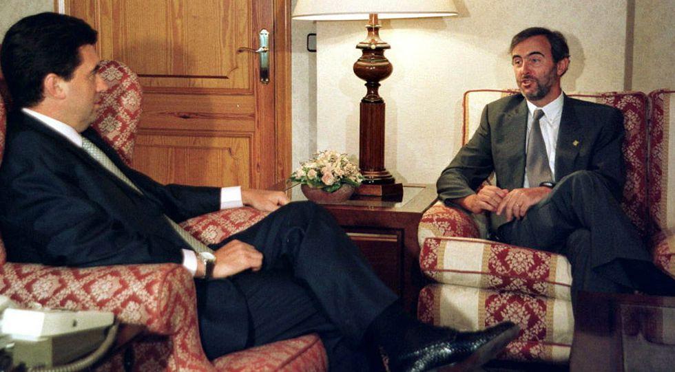 Jaume Matas junto a Antonio Dieguez, en 1999.