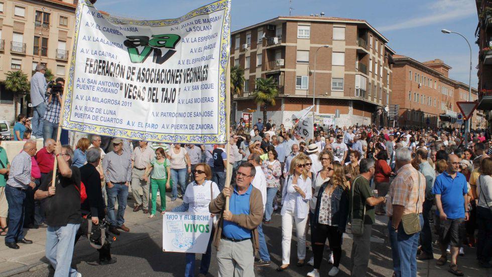 Manifestación en Talavera de la Reina contra el trasvase en septiembre.